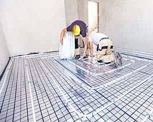 installeren vloerverwarming